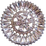 Vintage High End Clear Rhinestone Pin-Brooch
