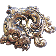 Vintage Brass Foo Dog Dress Clip