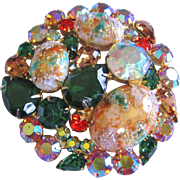 Vintage Juliana Multi Colored Easter Egg Brooch-Pin