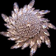 Vintage Napier Star Swirl Rhinestone Pin-Brooch