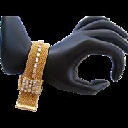 Vintage Mesh and Rhinestone Slide Bracelet
