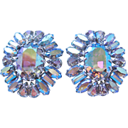 Vintage Sherman Rhinestone Earrings