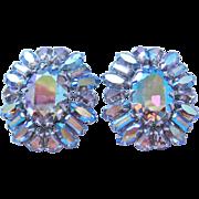 Vintage Sherman Rhinestone Earrings