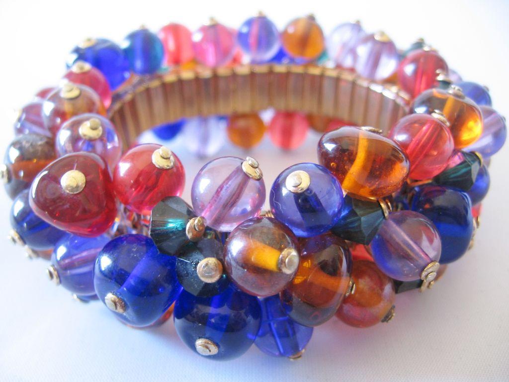 Huge Multi Glass Ball Cha Cha Bracelet