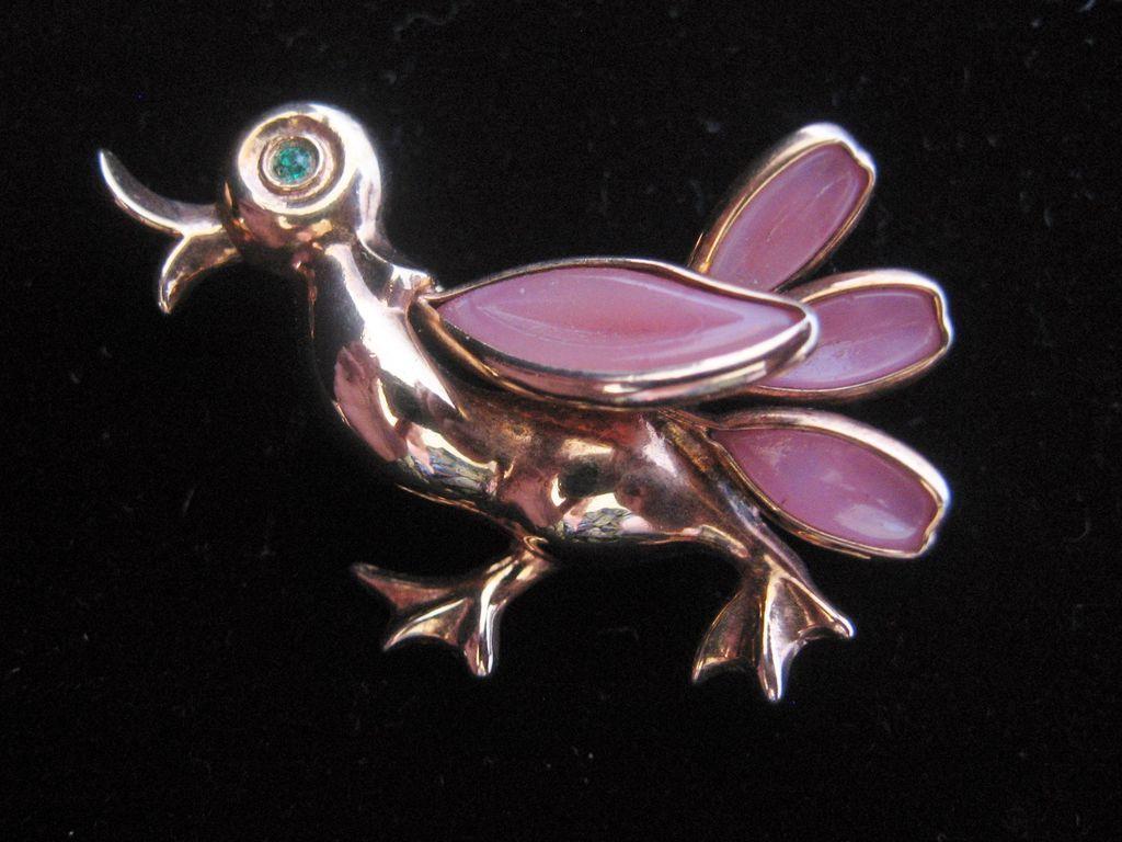 Trifari Petalettes Alfred Philippe Designed- Duck- Pin-Brooch
