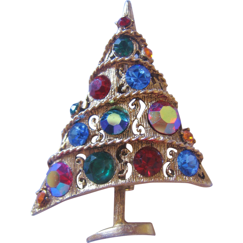 Vintage Weiß : Vintage Weiss Christmas Tree Pin-Brooch from vintagejewelrylounge on ...