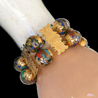 Antique Victorian Museum Quality 22kt Gold Grand Tour Extra Wide Bracelet, c.1900