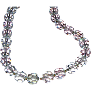 Exquisite Faceted Lead Crystal Vintage Necklace on Chain