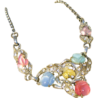 Fruit Salad Unsigned Coro Vintage Necklace