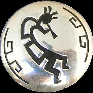 Sterling Silver Vintage Kokopelli Pin, Almost 6 Grams!