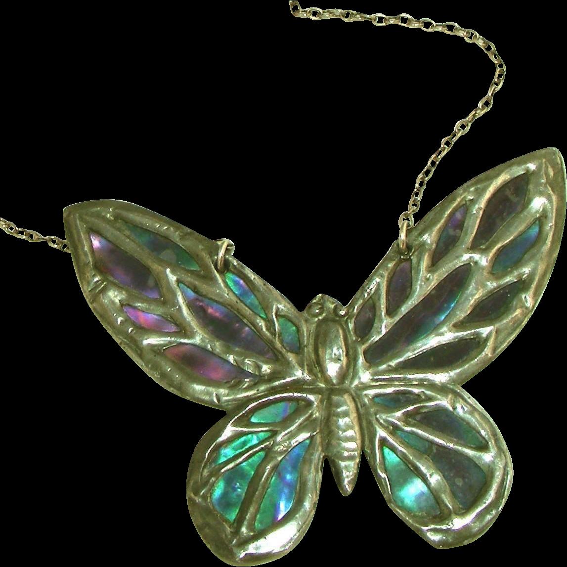 Vintage Butterfly Necklace 97