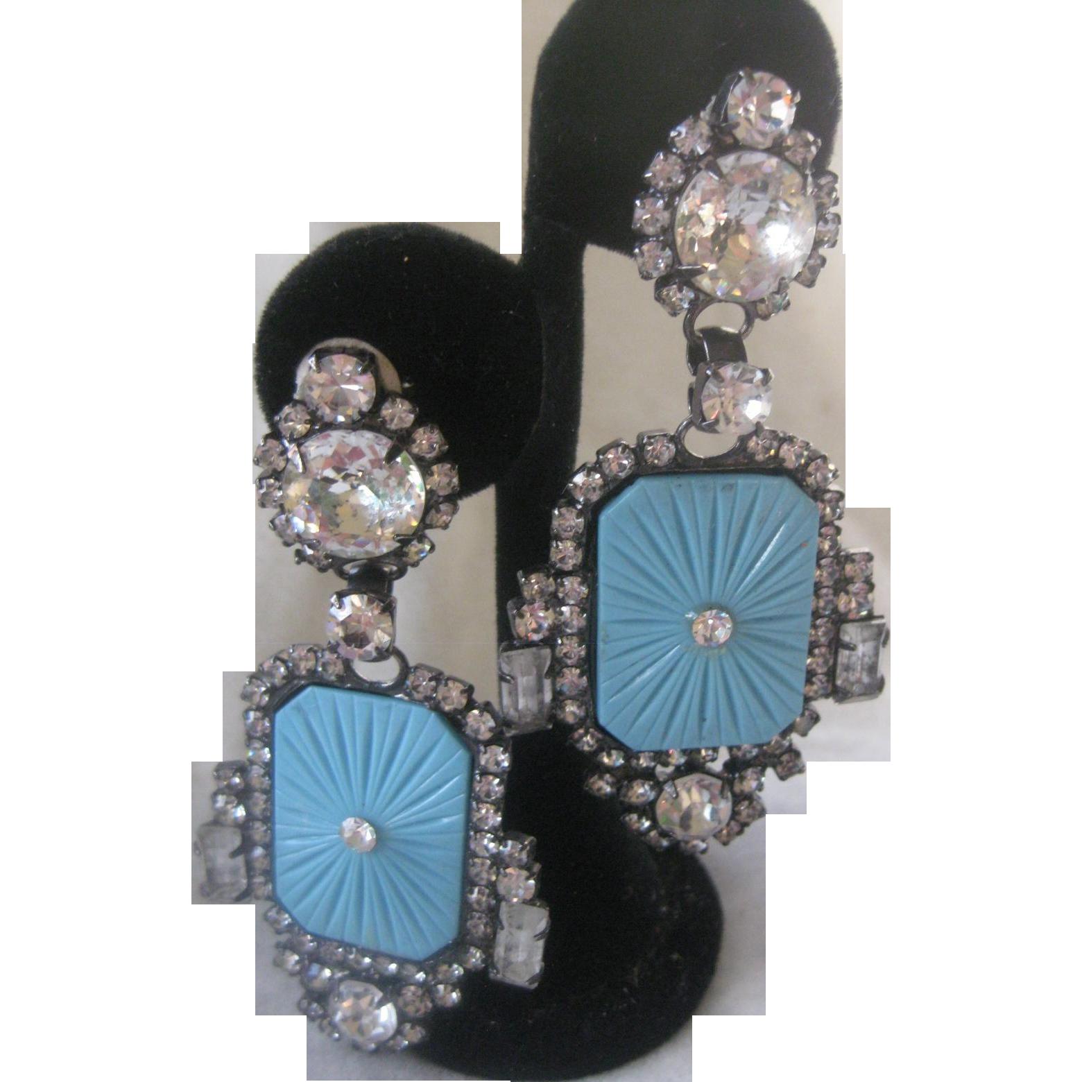 One Of A Kind N.Y. Designer Art Deco Beautiful Earrings