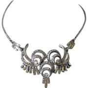 Rhinestone & Baguettes Vintage Necklace