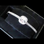 GIVENCHY Cuff Bracelet Large Glass Stone & Rhinestones