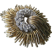 Ciner Stunning Large Vintage Rhinestone Brooch Pin