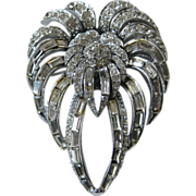 PELL Stunning Brilliant Rhinestones Large Brooch Pin