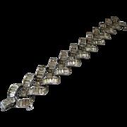 LEDO Heavy Vintage Large Baguettes & Rhinestones Bracelet