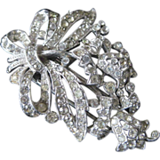 Pair Of TRIFARI Stunning Rhinestones Covered Vintage Fur Clips