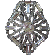 EISENBERG Original Clear Ice Rhinestones Early Fur Clip