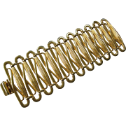 BEN AMUN Huge Super Wide Goldtone Cuff Bracelet