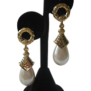GIOVANNI TORLONIA Vintage Glass Pearl Drop Earrings