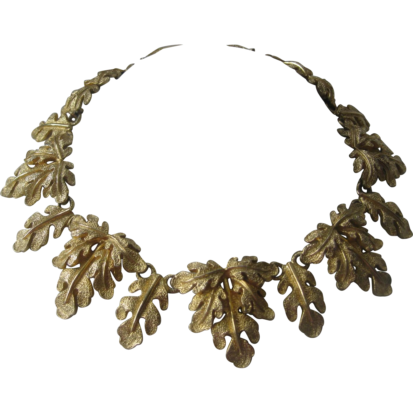 Mimi Di N 1975 Large Vintage Leafy Heavy Necklace