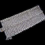 "2 1/2"" Wide Rhinestones Vintage Cuff Bracelet"