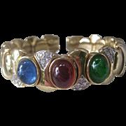 Cabochons & Rhinestones Vintage Cuff Bracelet