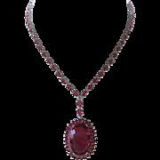 Raspberry Rhodolite Garnet 925 Sterling Silver Necklace