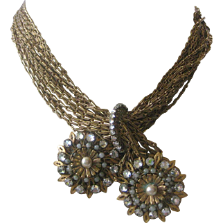 MIRIAM HASKELL Beautiful Vintage Large Necklace