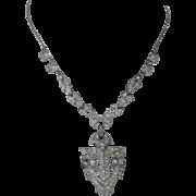 French Paste Art Deco Long Vintage Necklace