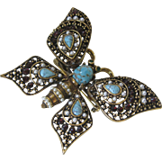 PAULINE RADER Butterfly Beautiful Vintage Trembler Brooch Pin