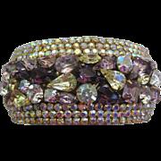Wide Rhinestone Designer Cuff Bracelet
