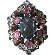 SCHREINER Vintage Beautiful Stones Pin Brooch