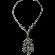 French Paste Art Deco 1920s Vintage Necklace