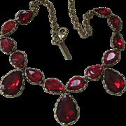 OSCAR DE LA RENTA Red Glass Runway Necklace!