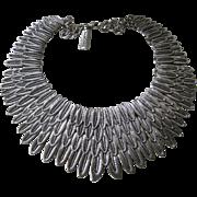 OSCAR DE LA RENTA Huge Feathered Bib Necklace