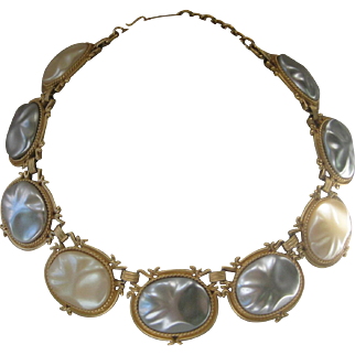 Yves Saint Laurent Gorgeous Huge Glass Pearls Stunning Large Necklace YSL