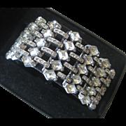 Art Deco French Paste 1930s Heavy Wide Stunning Bracelet