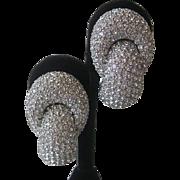 CINER Large Rhinestone Covered Substantial Vintage Earrings