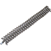 Art Deco French Paste Sterling Silver Bracelet