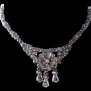 Art Deco Delicate French Paste Wedding Bridal Necklace