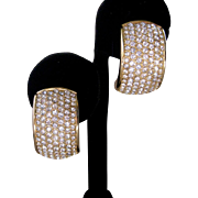 CHR. DIOR Brilliant Rhinestone covered Vintage Earrings
