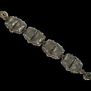 Stunning Open Back Clear Glass Stones Bracelet