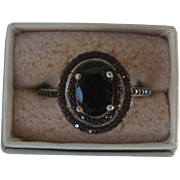Beautiful Genuine Mozambique Garnets In 925 Sterling Silver Ring Size 8