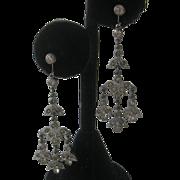 French Paste Dangling Vintage Earrings