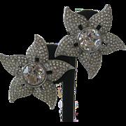 Gorgeous Kenneth Lane Rhinestones & Glass Earrings