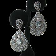 Genuine Sky Blue Topaz Stones 925 Sterling Silver Earrings