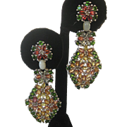 Opals & Gemstones Set in 925 Sterling Silver Earrings