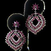 Genuine Raspberry Rhodolite Garnet Stones Set In 925 Sterling Silver